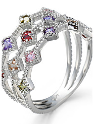 Ring Settings Ring  Luxury Elegant Noble Zircon Women's Multicolor Rhinestone Euramerican Fashion Birthday Wedding Movie Gift Jewelry