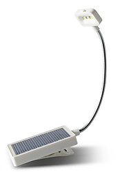 1pcs Solar Desk Light 3Led Table Lamp Flexible Desktop Reading Lamp USB Charging Solar Power Light Clip Light Book Night Light