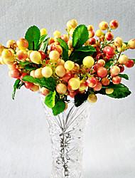 10 Ramo Isopor Toque real Plantas Fruta Flor de Mesa Flores artificiais