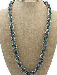 Chain Necklaces Women's OL Hollow Green Long Necklace Women's Jewelry Gifts Casual Bohemia Party Daily Movie Jewelry