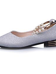 Women's Sandals Comfort Rubber Summer Outdoor Walking Comfort Rhinestone Buckle Low Heel Silver Black Gold Under 1in