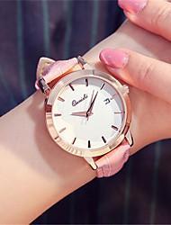 Women's Fashion Watch Wrist watch Quartz Calendar Leather Band Red Brown Pink Purple