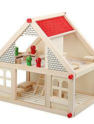 Pretend Play Building Blocks House Wooden Children's