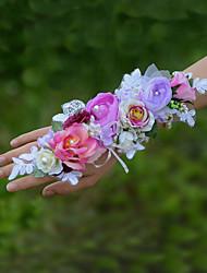 """Fleurs de mariage Petit bouquet de fleurs au poignet Cérémonie de mariage 3.15""""(Env.8cm)"""