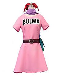 Inspiré par Dragon Ball Cosplay Manga Costumes de Cosplay Robes Couleur unie Manches Courtes Robe Pour Féminin