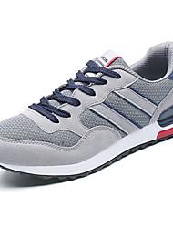 Hombre Zapatillas de Atletismo Confort Tul Primavera Otoño Deportivo Paseo Confort Con Cordón Tacón Plano Azul Oscuro Gris Azul Plano