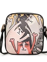 Women Shoulder Bag PU All Seasons Casual Baguette Zipper Black