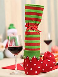 Christmas Wave Dot Striped Wine Bottle Bag/Christmas Striped Gift Bag/Christmas Chair Foot Bag
