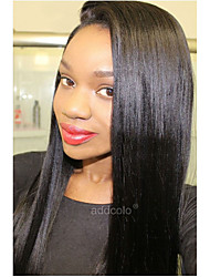 Addcolo Brazilian Human Hair Wigs 360 Lace Frontal Wigs Italian Yaki Straight 360 Lace Wigs With Baby Hair