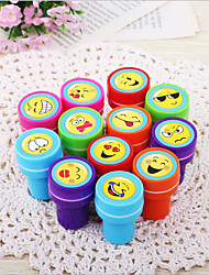12Pcs/1 Sets Of Cute Smiley Face Toy Seal Sets/Children's Small Stamps