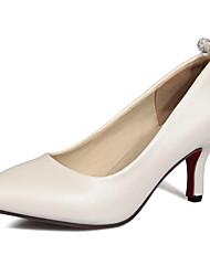 Для женщин Обувь на каблуках Туфли лодочки Дерматин Лето Осень Свадьба Повседневные Для праздника Для вечеринки / ужина Туфли лодочкиНа