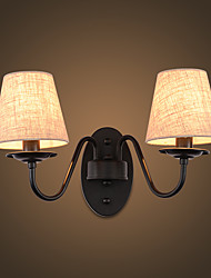 110-120 AC 220-240 2*60 E14 E12 Rustic/Lodge Simple Vintage Painting FeatureAmbient Light Wall Sconces Wall Light