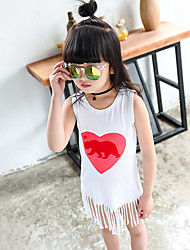 Girl's Fashion And Lovely  Europe And The United States Cartoon Tassel Vest Dress
