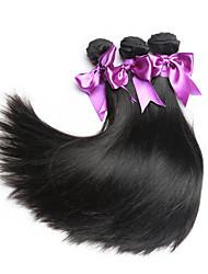 Natural Color Virgin Hair Weaves Peruvian Siky Straight Unprocessed human hair weaves 3bunldes
