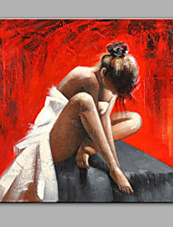 Hand-Painted Oil Painting Modern People The Ballet Girl Is Resting