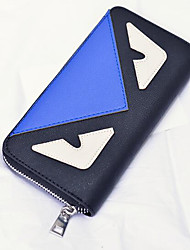 Women Money Clip PU All Seasons Casual Square Zipper Ruby Navy Blue White