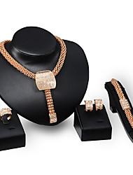 Per donna Set di gioielli Strass Euramerican Gioielli di Lusso Gioielli importanti Di tendenza Vintage PersonalizzatoStrass Placcato in