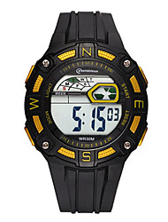Men's Sport Watch Digital Watch Digital Water Resistant / Water Proof Noctilucent Rubber Band Black