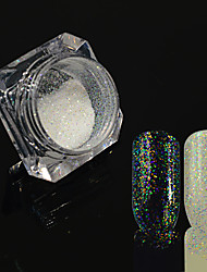 0.2g/bottle Nail Art Starry Effect Glitter Holographic Powder Sparkling Shining Decoration Nail Art DIY Beauty Charming Design HC02