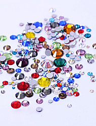 300pcs Non HotFix Mix Size Nail Art Rhinestones With Round Base For Nails Shoes And Wedding Decoration