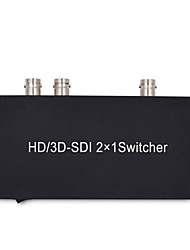 SDI Switcher 2X1 HD Switch 2 SDI Signal to 1 SDI Output Converter for 3G HD SD Monitor Security Camera CCTV Video