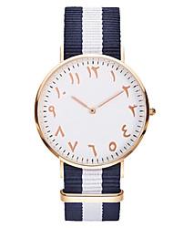 Mulheres Homens Relógio Esportivo Bracele Relógio Único Criativo relógio Relógio Casual Chinês Quartzo Impermeável Tecido BandaRiscas
