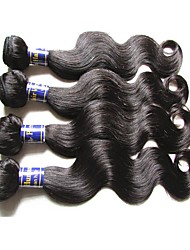 cheap 6a peruvian human hair body wave 400g 4pieces lot natural color 100g/bundle 100% virgin hair material made soft texture