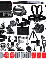 Gopro accessories Sport Action Camera Accessories Kit for Gopro HERO 1 2 3 3  4 5 SJ4000 SJ5000 Waterproof video camera with carrying case