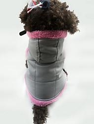 Собака Жилет Одежда для собак На каждый день Сплошной цвет Белый Оранжевый Лиловый