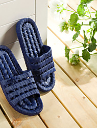 Men's Shoes PVC Casual Slippers & Flip-Flops Casual Water Shoes Flat Heel Hollow-out Dark Blue/ Light Grey   42-43