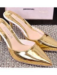 Damen Sandalen Pumps Lackleder Silica Gel Sommer Normal Gold Schwarz Silber Rosa 2,5 - 4,5 cm