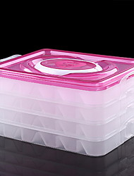 Frozen Dumpling Box Fridge Storage Box Non-stick Tie Cover Dumplings Fresh-keeping Box