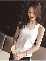Women's Daily Simple Summer Tank Top,Solid Halter Sleeveless Others