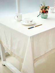 Natural Plain Color Cotton And Linen Table Cloths 60*60cm