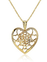 Women's Pendant Necklaces Jewelry Heart Geometric Silver Plated Gold Plated Tin AlloyBasic Unique Design Tattoo Style Dangling Style