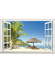 Wall Stickers Wall Decals Beach Sitting Out PVC Wall Stickers