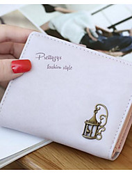 Women Money Clip PU All Seasons Casual Square Fold-over Clasp Blushing Pink Black White