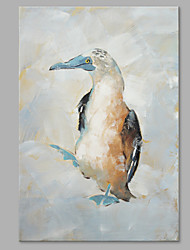 IARTS® Hand Painted Modern Abstract Bird Walking in the Snow Field Oil Painting On Canvas with Stretched Frame Wall Art For Home Decoration