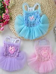 Chien Robe Vêtements pour Chien Décontracté / Quotidien Anniversaire Princesse Violet Rose Bleu clair