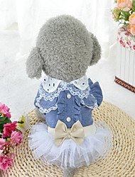 Cachorro Vestidos Roupas para Cães Aniversário Casual Princesa