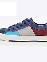 Men's Sneakers Comfort Light Soles Spring Fall Canvas Casual Party & Evening Outdoor Office & Career Lace-up Flat Heel Brown Navy Blue