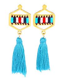 Women's Earrings Set Jewelry Tassel Fashion Bohemian Euramerican Hypoallergenic HandmadeStainless Steel Gold Plated StainlessSteel