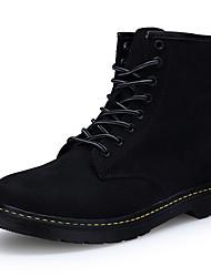 Для женщин Ботинки Удобная обувь Зимние сапоги Модная обувь Армейские ботинки Свиная кожа Осень Зима ПовседневныеУдобная обувь Зимние