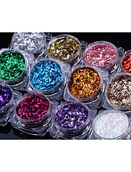 12PCS  Nail Art Thin Article Glitter Nails Sequins