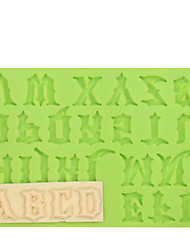 Warcraft Movies Font Capital Letter Silicone Fondant Mold Cake Decoration Tools for Chocolate Fimo Clay Mold