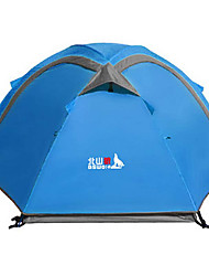 2 persons Tent Double Fold Tent One Room Camping Tent >3000mm Glass fiber Terylene Waterproof Rain-Proof Foldable Invisible Lift-Camping