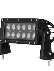 Kkmoon 36w led car work light bar 6.2-дюймовый квадратный пучок луча для джипа 4x4 offroad atv truck suv boat 12v 24v