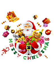 Wall Stickers Wall Decals Merry Christmas Santa Claus PVC Wall Stickers
