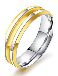 Men's Ring Vintage Elegant Titanium Steel 18K gold Ring Jewelry For Wedding Anniversary Party/Evening Engagement Ceremony