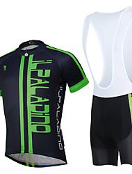ILPALADINO Maillot et Cuissard à Bretelles de Cyclisme Unisexe Manches Courtes Vélo Maillot + Short/Maillot+Cuissard Ensemble de Vêtements